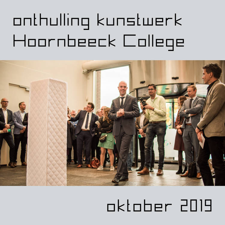 Revealing a work of art at Hoornbeeck College Gouda